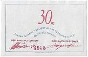 30 Pfennig – reverse