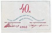 40 Pfennig – reverse