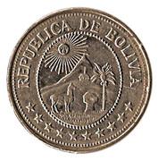 5 Pesos Bolivianos -  obverse