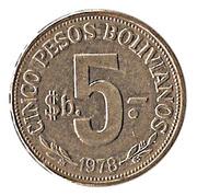 5 Pesos Bolivianos -  reverse
