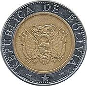 5 Bolivianos -  obverse
