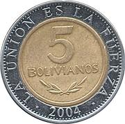 5 Bolivianos -  reverse