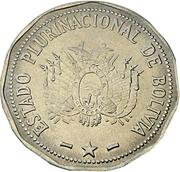2 Bolivianos -  obverse