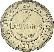 2 Bolivianos -  reverse
