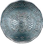 2 Bolivianos (Colorados de Bolivia) -  obverse