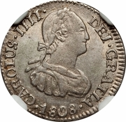 ½ Real - Carlos IV – obverse