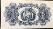 1 Boliviano (Law of July, 20 of 1928 Second issue) – reverse