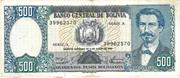 500 Pesos Bolivianos – obverse