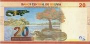 20 Bolivianos 2018 -  reverse