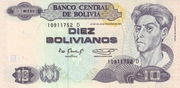 10 Bolivianos (Rojas, Series D-E) -  obverse