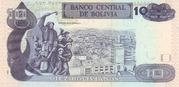 10 Bolivianos (Rojas, Series D-E) – reverse