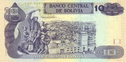 10 Bolivianos (Rojas, Series F-H) – reverse