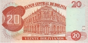 20 Bolivianos (Dalence, Series D) -  reverse