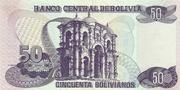 50 Bolivianos (Holguin, Series A-C) – reverse