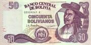 50 Bolivianos (Holguin, Series D-E) – obverse