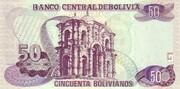 50 Bolivianos (Holguin, Series D-E) – reverse