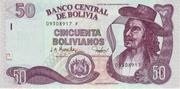 50 Bolivianos (Holguin, Series F-H) – obverse