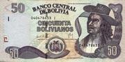 50 Bolivianos (Plurinational State, Holguin, Series I-J) – obverse