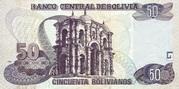 50 Bolivianos (Plurinational State, Holguin, Series I-J) – reverse