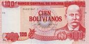100 Bolivianos (Moreno, Series A-C) -  obverse