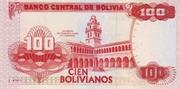 100 Bolivianos (Moreno, Series A-C) -  reverse