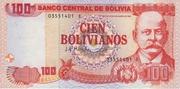 100 Bolivianos (Moreno, Series D-E) – obverse