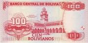 100 Bolivianos (Moreno, Series D-E) -  reverse