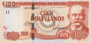 100 Bolivianos (Plurinational State, Moreno, Series I-J) – obverse