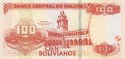 100 Bolivianos (Plurinational State, Moreno, Series I-J) – reverse