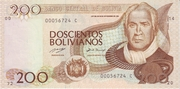 200 Bolivianos (Tamayo, Series A-C) -  obverse