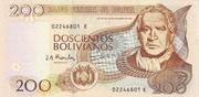 200 Bolivianos (Tamayo, Series D-E) – obverse