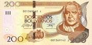 200 Bolivianos (Plurinational State, Tamayo, Series I-J) – obverse