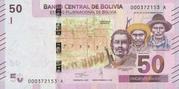 50 Bolivianos (Baca, Racua & Willka) – obverse
