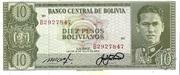 10 Pesos Bolivianos – obverse