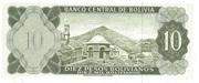 10 Pesos Bolivianos – reverse