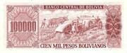 100 000 Pesos Bolivianos – reverse