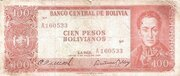 100 Pesos Bolivianos (Two currencies on Back) – obverse