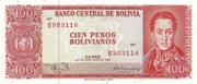 100 Pesos Bolivianos (One currency on Back) – obverse