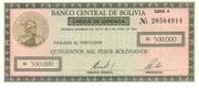 500.000 Pesos Bolivianos – obverse