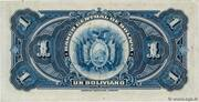1 Boliviano (Law of July, 20 of 1928 First issue) – reverse