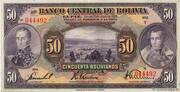 50 Bolivianos – obverse
