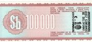 10 Centavos de Boliviano (overprinted on 100 000 Bolivianos P# 188) -  reverse