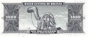 1 000 Bolivianos – reverse