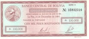 100 000 Pesos Bolivianos – obverse