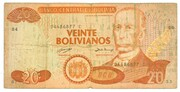 20 Bolivianos (Dalence, Series C) -  obverse