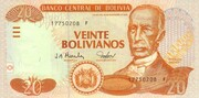 20 Bolivianos (Dalence, Series F) -  obverse