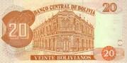 20 Bolivianos (Dalence, Series F) -  reverse