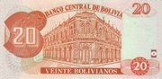 20 Bolivianos (Dalence, Series G) -  reverse