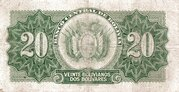 20 Bolivianos - 2 Bolivares (1928) -  reverse