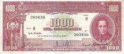 1 000 Bolivianos – obverse